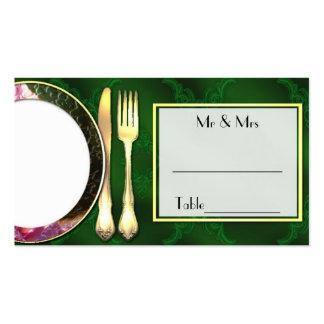 Abendessen-Platzkarte Visitenkarten