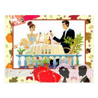 Abendessen Postkarte