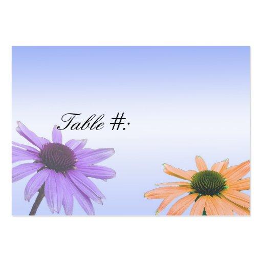 Abendessen-Tischnummerkarte, Gänseblümchen-Blume Visitenkarten