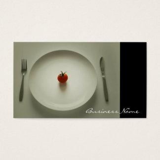 Abendessen wird Visitenkarten gedient