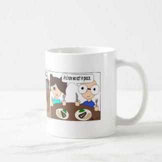 Abendessen-Zeit Kaffeetasse