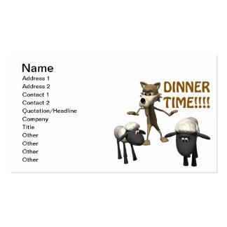 Abendessen-Zeit Visitenkarten