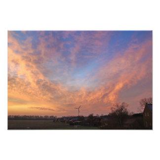Abendliche Wolkenformation! Fotodruck