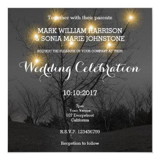 Abends-Baum-Garten-Hochzeits-Einladung Karte