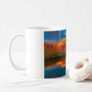 Abends-Berge Kaffeetasse