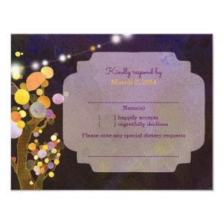 Abends-Garten-Schnur beleuchtet Hochzeit UAWG Karte