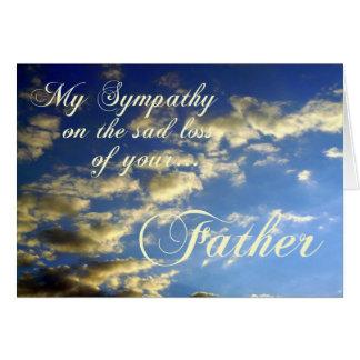 Abends-Himmel/Beileid-Verlust des Vaters Karte