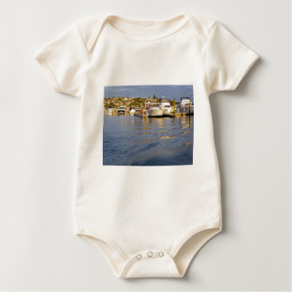 Abends-Jachthafen Baby Strampler