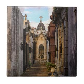 Abends-Licht in Recoleta Friedhof Keramikfliese