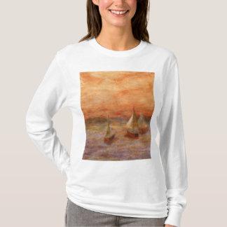 Abends-Segel, das mit Kapuze Shirt der Frauen