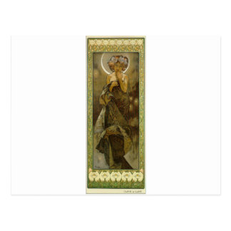 Abends-Stern durch Alphonse Mucha Postkarte