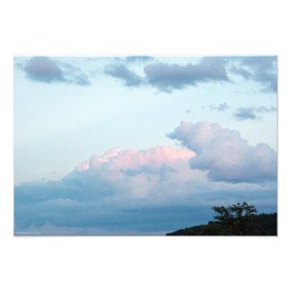 Abends-Wolken Fotodruck