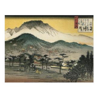 Abendsansicht eines Tempels in den Hügeln durch An Postkarten