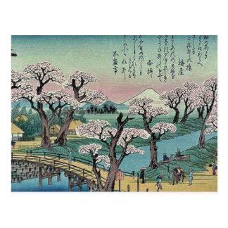 Abendsglühen an Koganei Brücke durch Ando, Postkarte