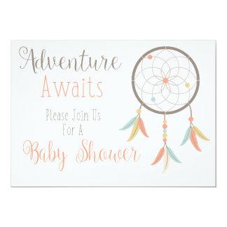 Abenteuer erwartet Babyparty-Einladung Karte
