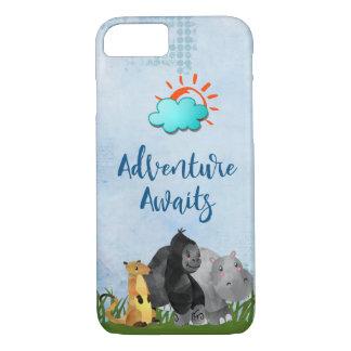 Abenteuer erwartet Safari-Dschungel-Tier iPhone 8/7 Hülle