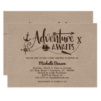 """""""Abenteuer erwartet"""" SeeBabyparty-Einladung Karte"""