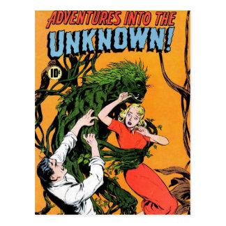 Abenteuer in das Unbekannte - verärgerte Postkarte