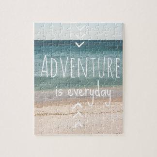 """""""Abenteuer ist tägliches"""" Puzzlespiel Puzzle"""