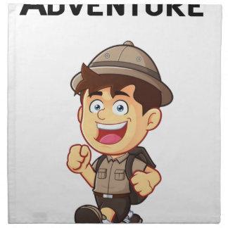 Abenteuer-Junge Serviette