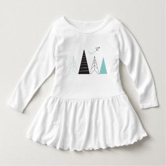 Abenteuer-Kleinkind-Rüsche-Kleid Kleid
