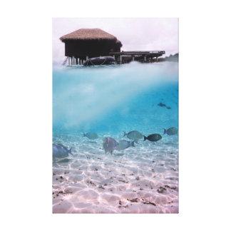 Abenteuer-Korallen-Fische Spaß-Malediven Leinwanddruck