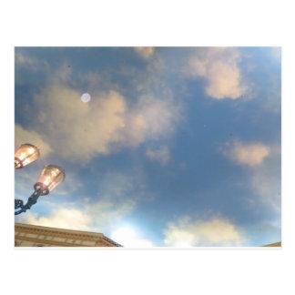 Abenteuer LAS VEGAS - Imitat Roofline SKYLINE Mond Postkarten