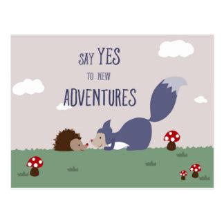 Abenteuer Postkarte