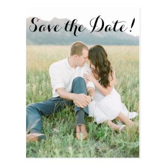 Abenteuer Save the Date Postkarte
