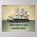 Abenteuer sind lohnendes Plakat