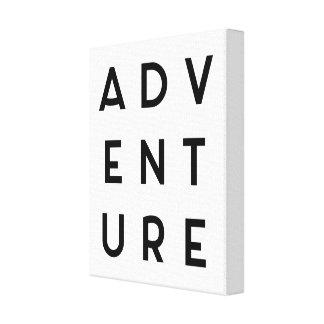 Abenteuer-unbedeutendes Zitat Galerie Falt Leinwand