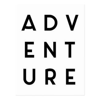 Abenteuer-unbedeutendes Zitat Postkarten