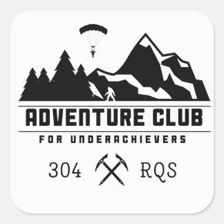 Abenteuer-Verein für Underachievers/304 RQS Quadratischer Aufkleber