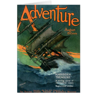 Abenteuer-Zeitschrift, im August 1911 Karte