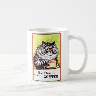 """""""Aber Katzen-Tasse erster Kaffee-"""" Vintage Louis Kaffeetasse"""