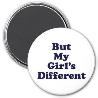 Aber meines Mädchens unterschiedlich Runder Magnet 7,6 Cm