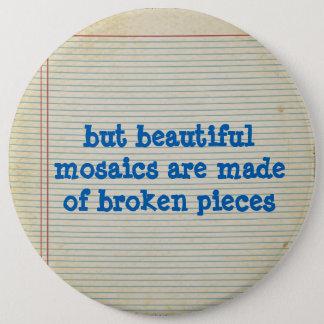 aber schöne Mosaiken werden von defekten Stücken Runder Button 15,3 Cm