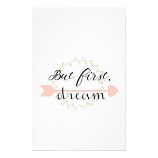 Aber zuerst, Traum Briefpapier