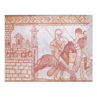 Abfahrt der Kreuzfahrer Postkarte