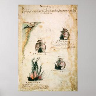Abfahrt von Vasco da Gama Poster