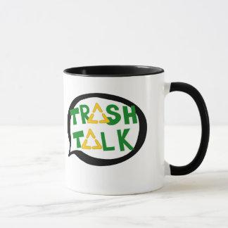Abfall-Gesprächs-Tasse Tasse