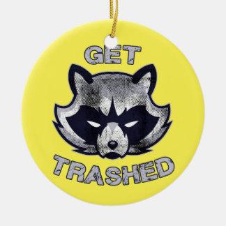 Abfall-Panda-Party-Leute Keramik Ornament
