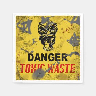 Abfallstoff-Zombie-Apokalypse Halloweens Servietten