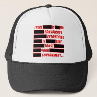 Abgefaßtes Vertrauen Ihre Regierung alles fein Truckerkappe