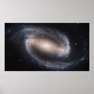 Abgehaltener Spiralarm NGC 1300 Poster