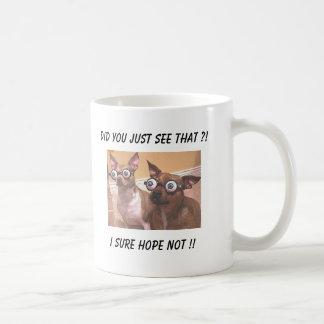 Abgehörtes mit Augen kriecht! Kaffeetasse