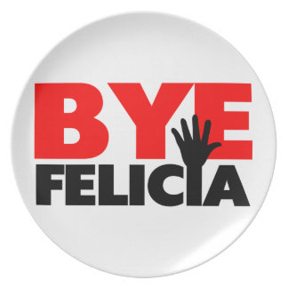 Abgelegene Felicia-Handwelle Melaminteller