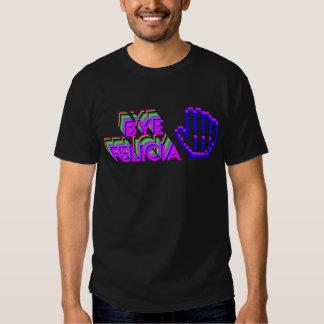 Abgelegener Felicia-8-BitT - Shirt-Schwarzes Hemd
