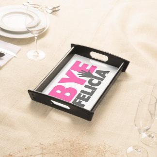 Abgelegenes Felicia-Handwellen-Pink Tablett