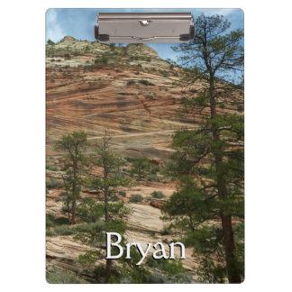 Abgenutzte Felsen-Wände in Zion Nationalpark Klemmbrett